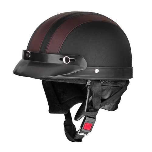 Retro Motorcycle Motor Bike Scooter Half Open Face Helmet Head Protection