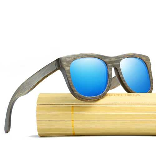 Handmade Natural Bamboo Wood Sunglasses Wooden Glasses Polarized UV400 for Men Women