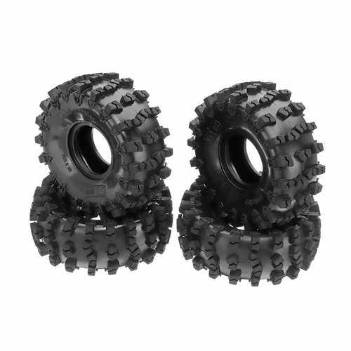 4PCS 2.2 Inch Rubber Climbing RC Car Tire For 1/8 SCX10 Axial RR10