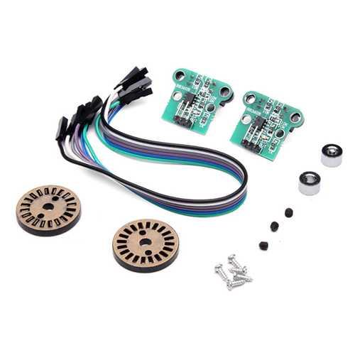 2Pcs HC-020K Double Speed Measuring Module With Speed Encoder Kit