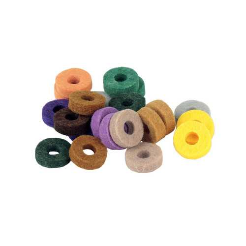 20Pcs Drum Kit Colorful Cymbal Felt Pad Protection Effect for Drum Percussion