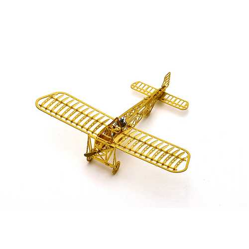 Bleriot XI 1/160 3D DIY Metal Assembly Etching Model Kit Airplane Puzzle