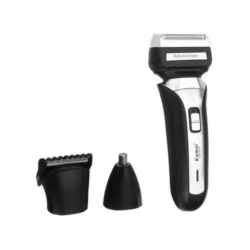 KEMEI Electric Beard Shaver Razor Cordless Nose Hair Trimmer