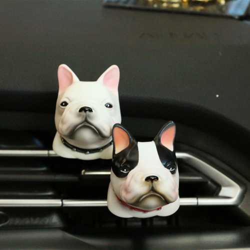Car Bulldog Perfume Air Vent Mount Clip Air Freshener Fragrance Scent Car Decoration