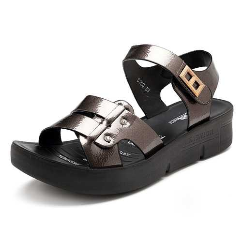 Hook Loop Microfiber Comfortable Women Sandals