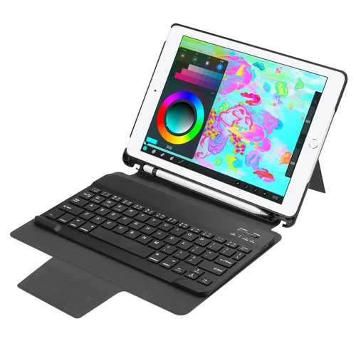 "Detachable Bluetooth Keyboard Kickstand Case For New iPad 9.7"" 2017/2018"