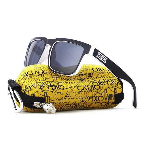 KDEAM KD901P-C19 Polarized Sunglasses Men Women UV400 Square Frame Sun Glasses With Hard Case