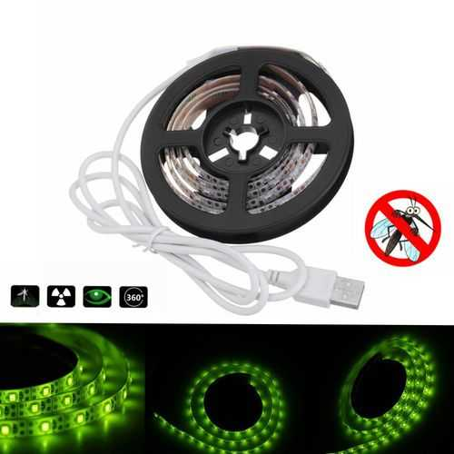 1M USB Powered Waterproof Mosquito Repelled LED Strip Light for Outdoor Fishing Camping DC5V