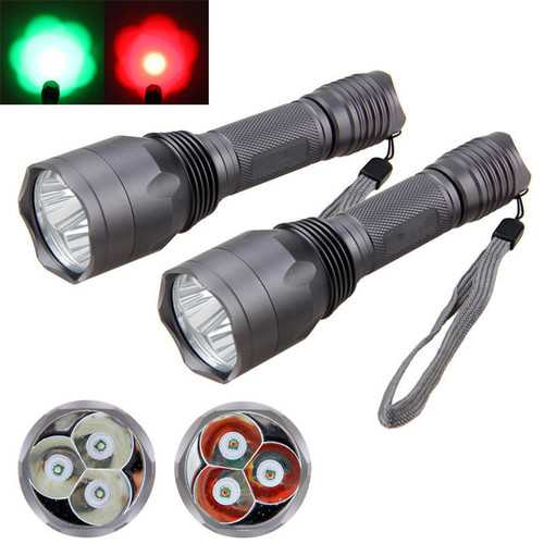 XANES C10 3x  T6 960LM Red Light / Green Light Functional Hunting Searching Flashlight