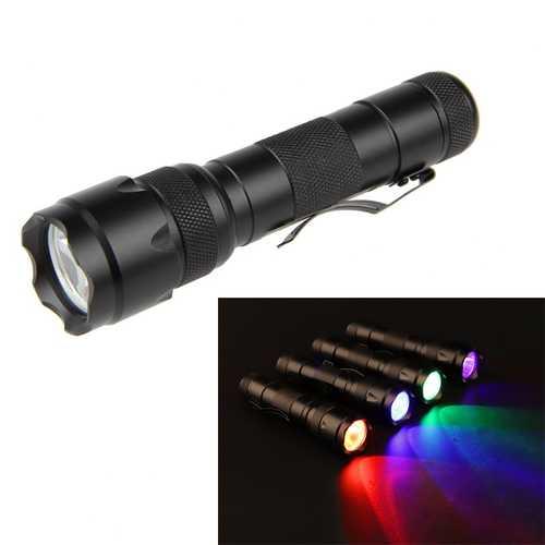 XANES 502B 2 1200LM Blue Light / Red Light / Green Light / UV Purple Light Functional Hunting Searching Flashlight Fluorescence Detection