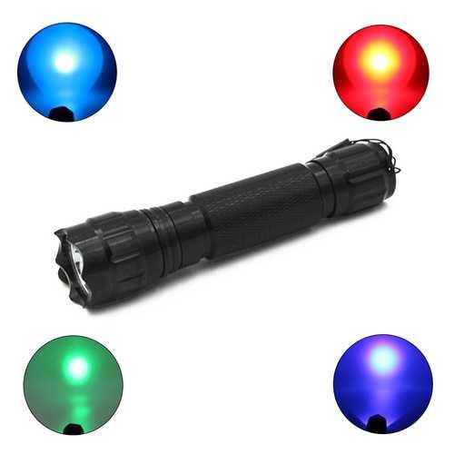 XANES 501B R5 Blue Light / Q5 Red Light / R5 Green Light / UV Purple Light Functional EDC Flashlight Hunting Searching Fluorescence Detection