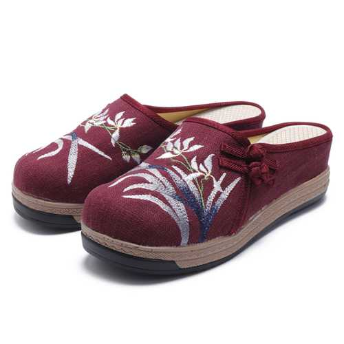 Folkways Embroidery Causal Women Sandals