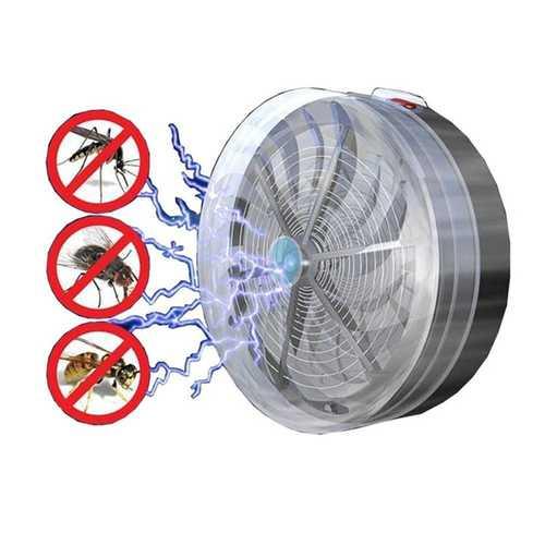 Garden Solar Powered Mosquito Killer Fly Insect Bug Buzz Zapper Outdoor UV Light Mosquito Dispeller