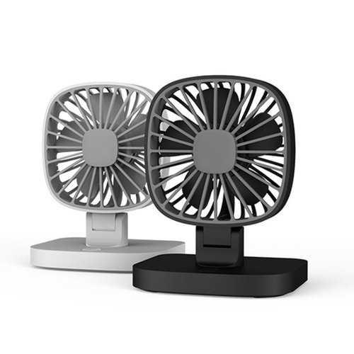 Portable USB Dual Head Mini Air Fan 360° Rotation for Car Home Office Cooling