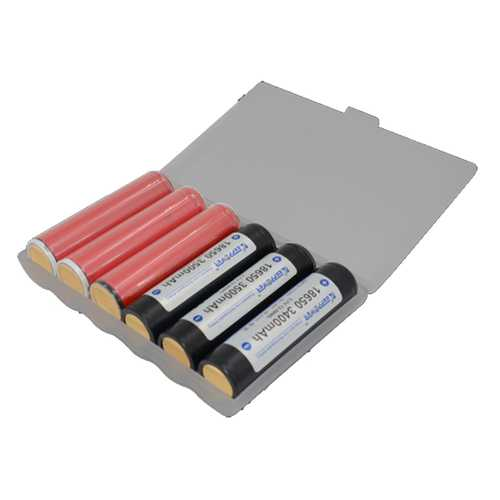1Pcs M6 Extended Version Battery Case Battery Storage Box Battery Holder for 6x Protected 18650 Batteries