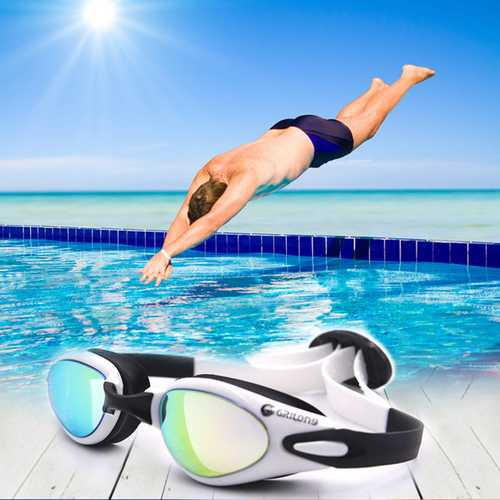 HD Waterproof Anti-fog Electroplating Swimming Goggles