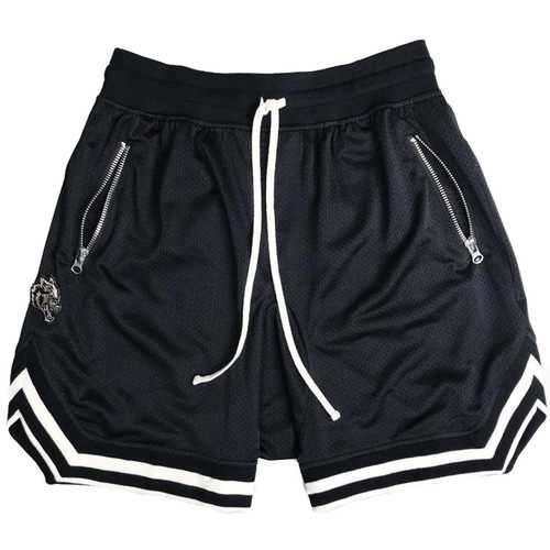 Men Sport Shorts Athletic Short with Pockets Polyester Ball Games Exercise Shorts Elastic Waist New Mesh Fitness Shorts