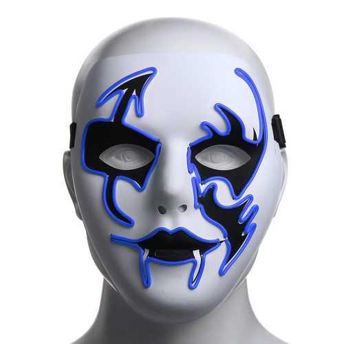 Halloween Mask LED Luminous Flashing Face Mask Party Masks Light Up Dance Halloween Cosplay