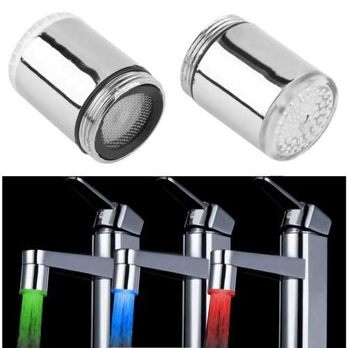 LED Light Water Tap Faucet Extender Temperature Sensor RGB Glow Shower Stream Shower Head Faucet Aerator