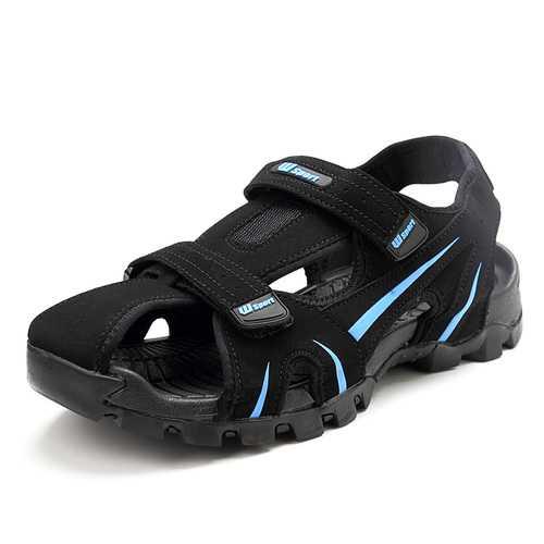 Men Breathable Anti Collision Toe Hook Loop Sandals