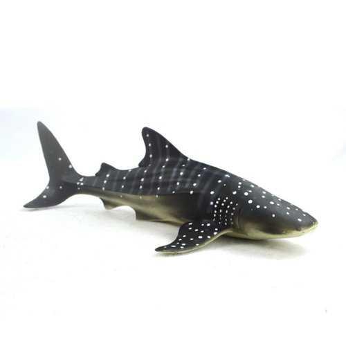 28cm Realistic Whale Shark Sea Animal Figure Solid Plastic Ocean Toy Diecast Model