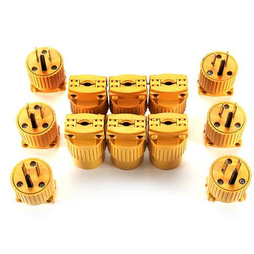 12pcs Male & Female Extension Cord Replacement Electrical End Plug 15AMP 125V