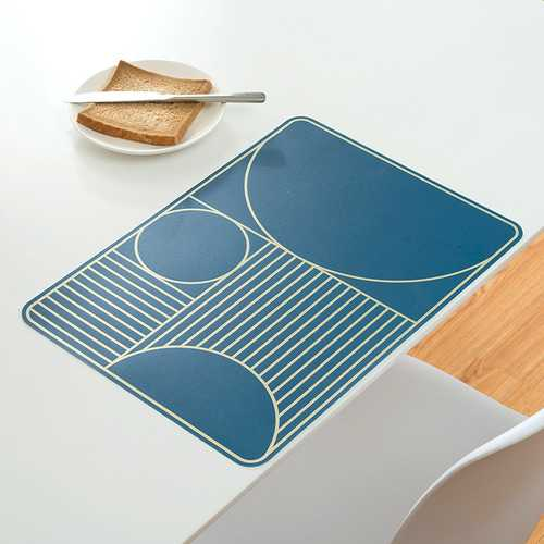 Home Waterproof Greaseproof Simple Geometry Pattern Heat Resistant Insulating Dining Pad Mat Placemat