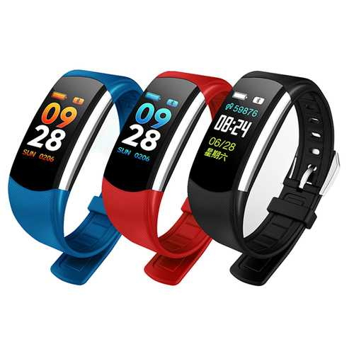 Bakeey C4 0.96' IP68 Blood Pressure Oxygen Heart Rate Monitor Fitness Tracker Sport Smart Bracelet