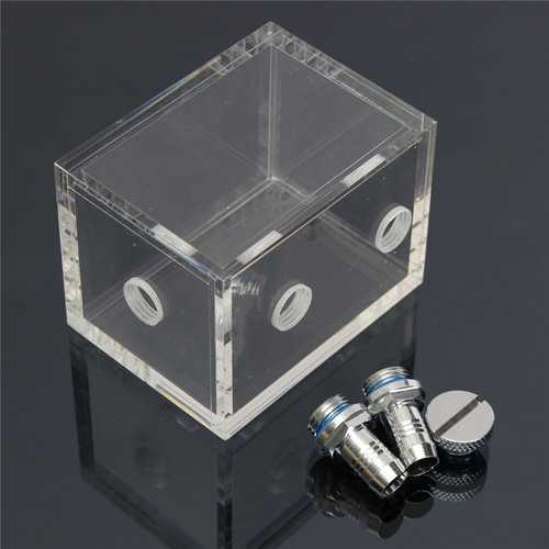 160ml Acrylic Water Tank Water Cooling Reservoir for Desktop PC CPU Water Cooling System