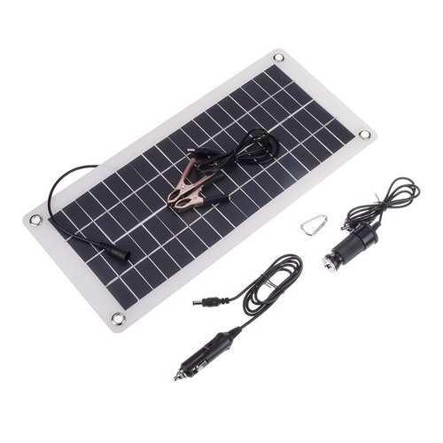 15w 12V/5V Output Semi-Soft Polycrystalline Solar Panel with Wires