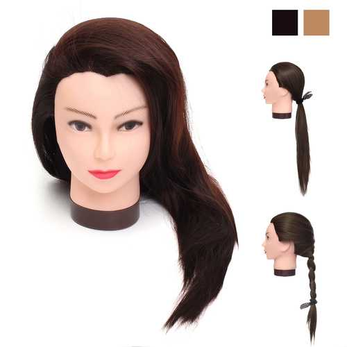 70cm Real Human Hair Hairdressing Training Mannequin