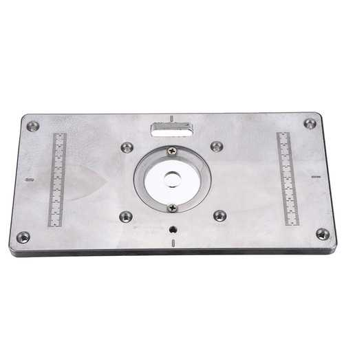235mmx118mm Aluminum Router Table Insert Plate For Woodworking Engraving Machine