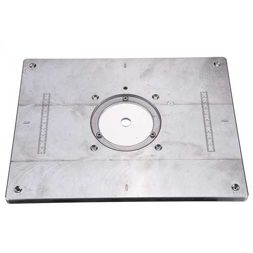 235x300x8mm Aluminum Router Table Insert Plate For Woodworking Engraving Machine