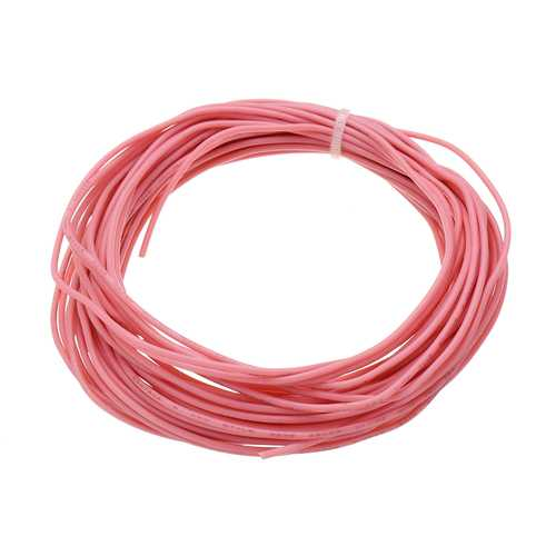 10 Meters 26AWG Electronic Cable Wire Insulated LED Wire Pink For DIY