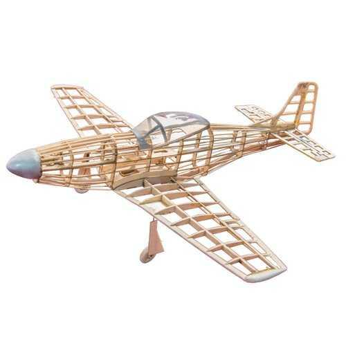 P51-D Mustang 400mm Wingspan Balsa Wood Laser Cut RC Warbird Airplane KIT