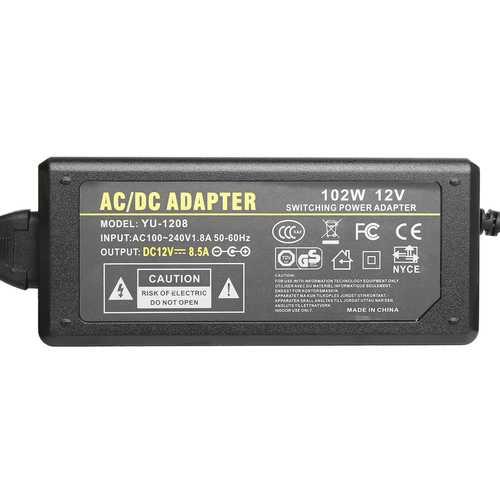100-240V AC to 12V DC 8.5A Power Supply Adapter Cigarette Socket Car Home Fridge