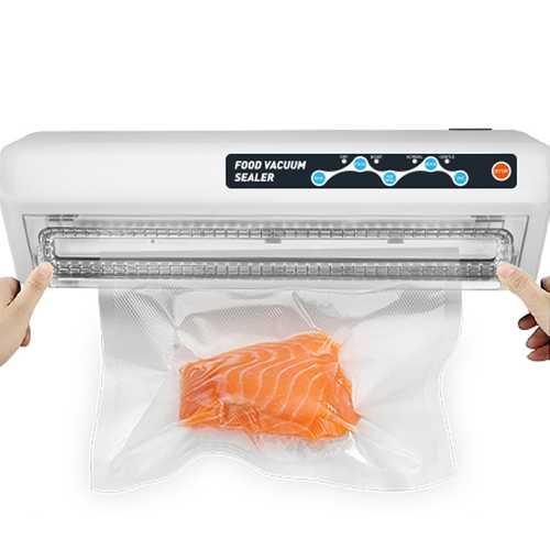 LAIMENG Vacuum Sealer Machine With Vacuum Bags Free Food Saver Vacuum Packer Package Sealer for Packaging Food Storage Electric Valve Vacuum Household Vacuum Sealer Packaging Machine