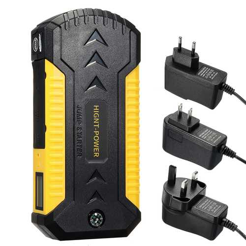4 USB 88000mAh Car Jump Starter Emergency Charger Booster Power Bank Battery