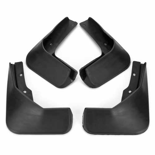 4Pcs Car Front and Rear Mud Flaps Black Plastic Mudguards for VW Jetta 2015-2017