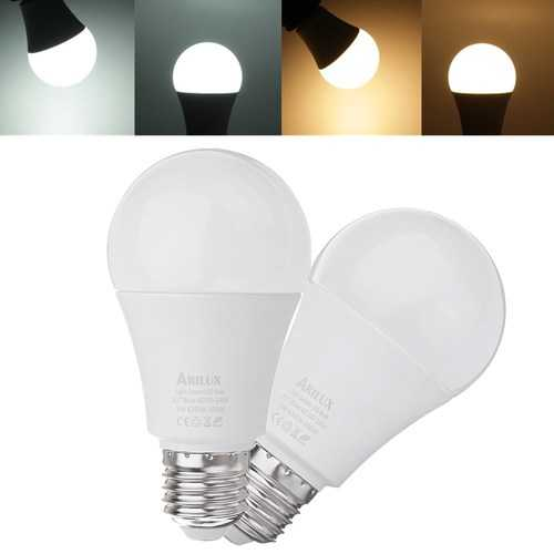 ARILUX® E27 A60 9W 620LM Warm White Pure White Dusk to Dawn LED Sensor Globe Light Bulb AC100-240V