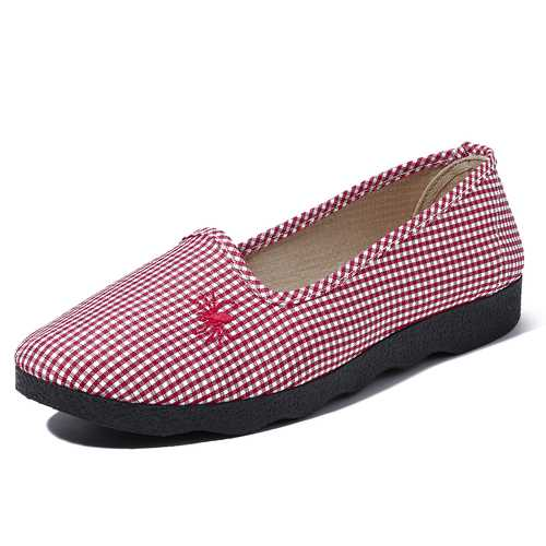 Casual Comfortable Breathable Slip On Flats Women Shoes