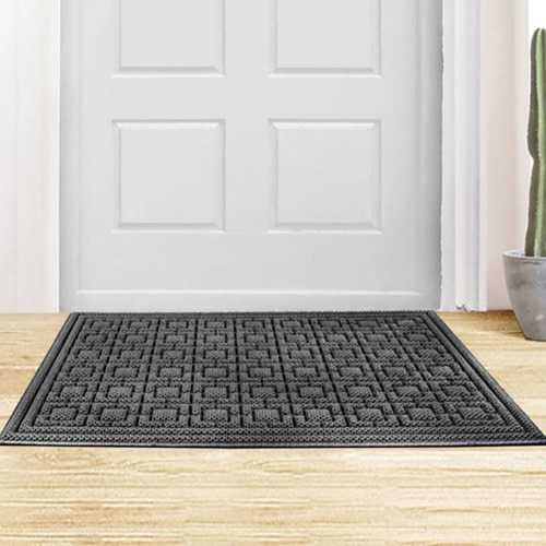 8H Pineapple & Square Version Special Dust Floor Mat Coffee and Gray Carpet from Xiaomi Youpin