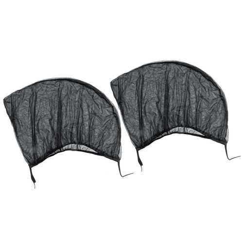 2Pcs Foldable Car Rear Window Sunshade Curtain Anti-Mosquito Net Sun Protection Visor Screen Mesh