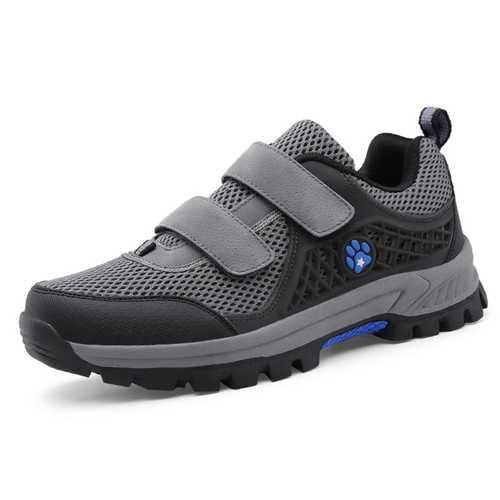 Men Breathable Mesh Hook Loop Outdoor Athletic Shoes