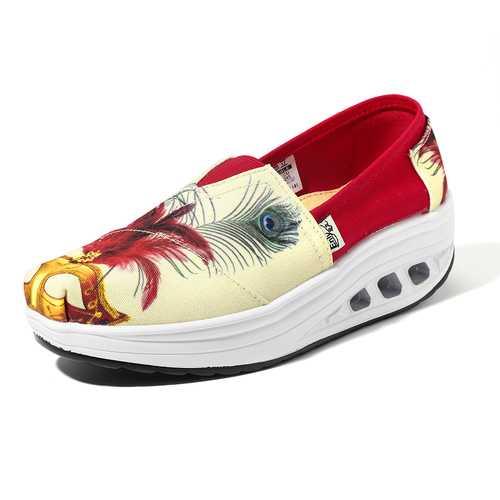 Casual Slip On Rocker Sole Shoes For Women