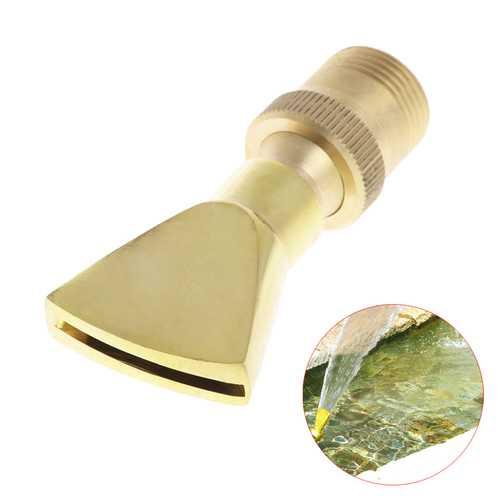 """1/2"""" DN15 3/4"""" DN20 Garden Brass Fountain Pond Water Nozzle Fan Shape Sprinkler Spray Head"""