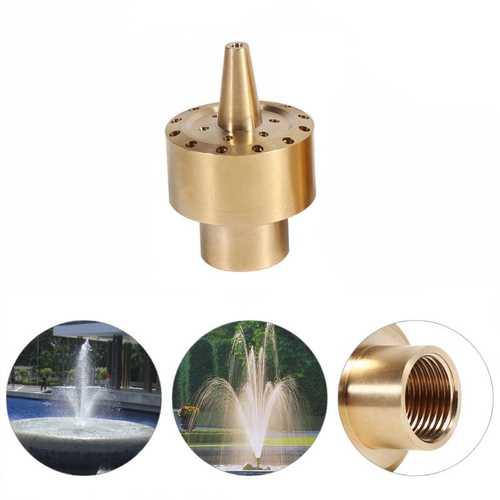 """1/2"""" Garden Courtyard Pond Fountain Brass Water Nozzle Sprinkler Column Style Spray Head"""