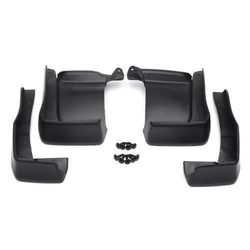 973772 Black Front Rear Car Splash  MudGuards Flaps Fender for Honda Accord 4 Door 13-17