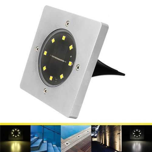 8 LED Solar Light Buried Ground Lamp Light Sensor Solar Garden Light Outdoor Path Way  Decking
