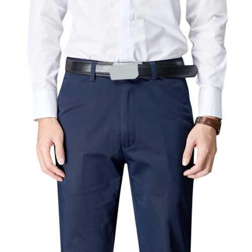 Men Summer  Zipper Fly Mid Rise Business Pocket Pants